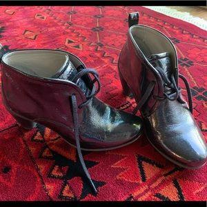 Ecco black patent leather boots